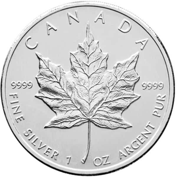 Silver Canadian Maple Leaf 1 oz - image 2
