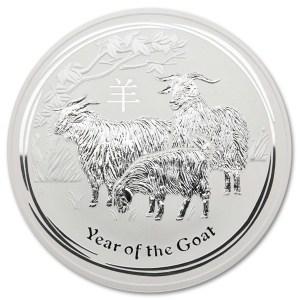 Srebrna moneta Rok Kozy 10 oz rewers