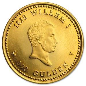 Złota moneta 100 guldenów rewers