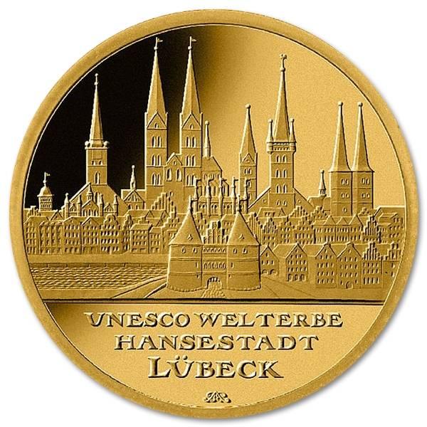 Złota moneta 100 euro Niemcy 1/2 oz rewers