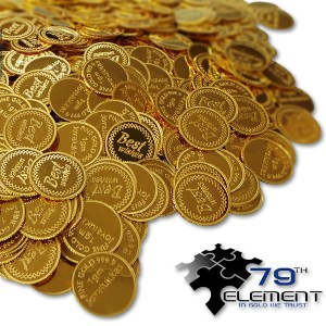 """""""Pchełki"""" 10 g złota w drobnych monetach"""