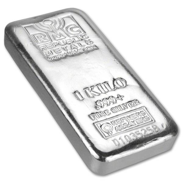 Sztabka srebra 1kg