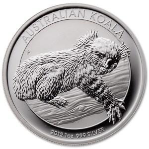 Srebrna moneta Koala 1 oz rewers
