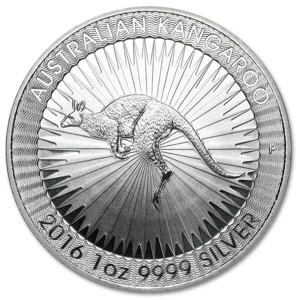 Srebrna moneta Kangur 1oz rewers