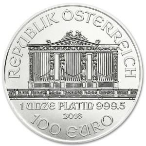 Platynowa moneta Wiedeńscy Filharmonicy 1 oz awers