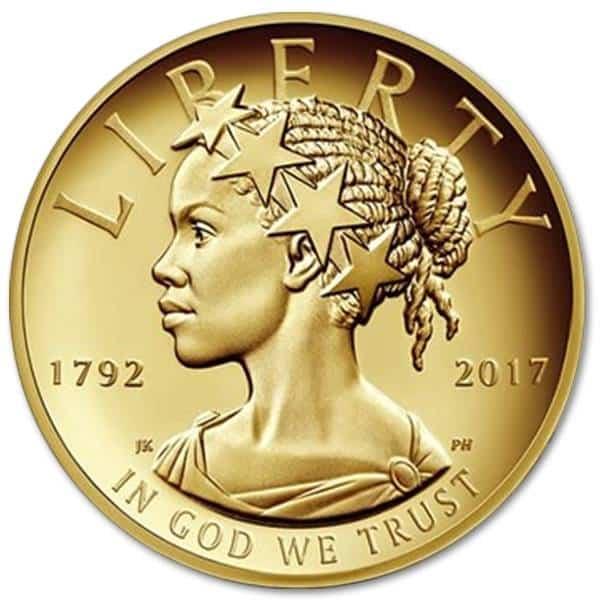 Złota moneta Lady Liberty 1oz rewers