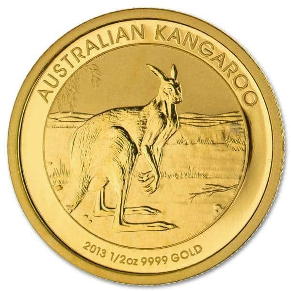 Złota moneta Australijski 1/2 oz rewers