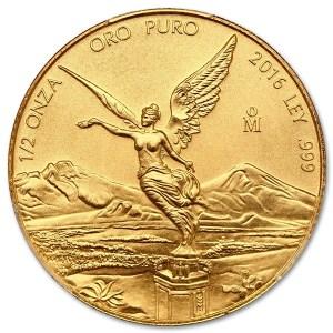 Złota moneta Libertad 1/2 oz rewers