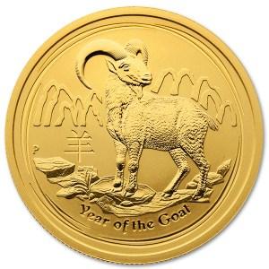 Złota moneta Australijski Lunar II Rok Kozy 2015 1/2 oz rewers