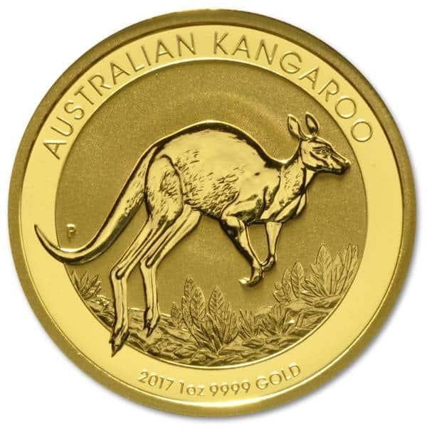 Złota moneta Australijski Kangur 1 oz rewers
