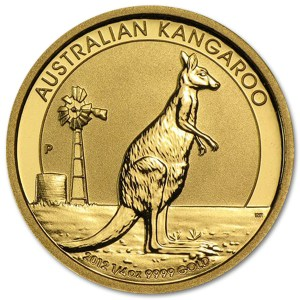 Złota moneta Australijski Nugget 1/4 oz rewers