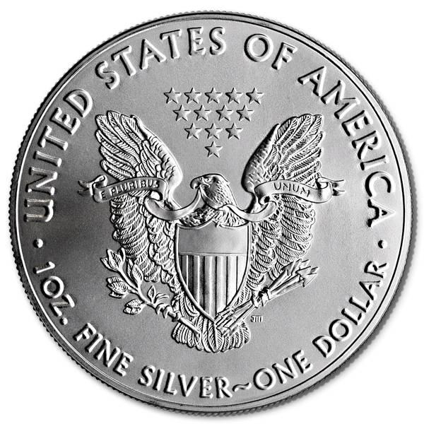 Srebrna moneta Amerykański Orzeł 1 oz rewers