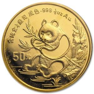 Złota moneta lokacyjna Chińska Panda 1/2 oz