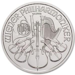Srebrna moneta Wiedeńscy Filharmonicy 1oz rewers