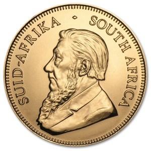 Złota moneta Krugerrand 1/10 oz rewers