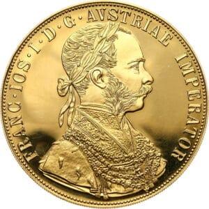 Złota moneta 4 Dukaty Austriackie - Czworak rewers