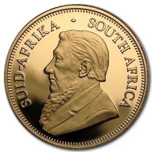 Złota moneta Krugerrand 1/2 oz rewers