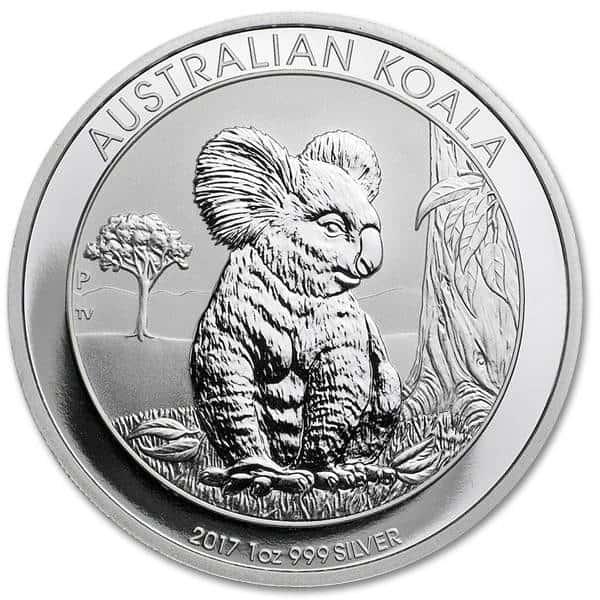 Srebrna moneta Australijski Koala 1 oz rewers