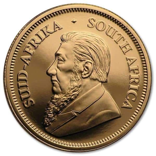Złota moneta inwestycyjna Krugerrand 1/4 oz rewers