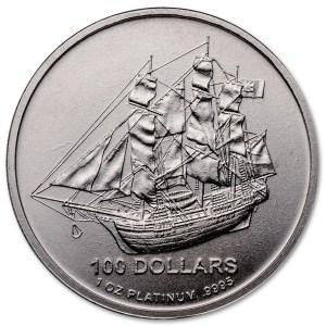 Platynowa moneta Cook Islands 1oz rewers