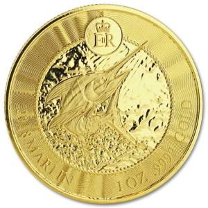 Złota moneta Błękitny Marlin 1 oz rewers