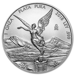 Srebrna moneta Meksyk Libertad 1 oz rewers
