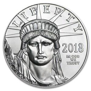Platynowa moneta Orzeł Amerykański 1 oz rewers