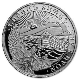 Srebrna moneta Arka Noego 5oz rewers