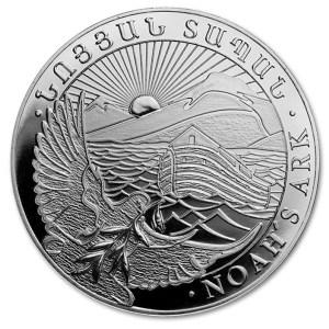 Srebrna moneta Arka Noego 10oz rewers