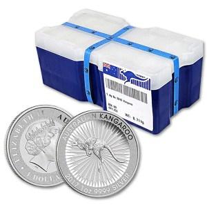 Zestaw 100 szt. srebrnej monety Kangur 1oz