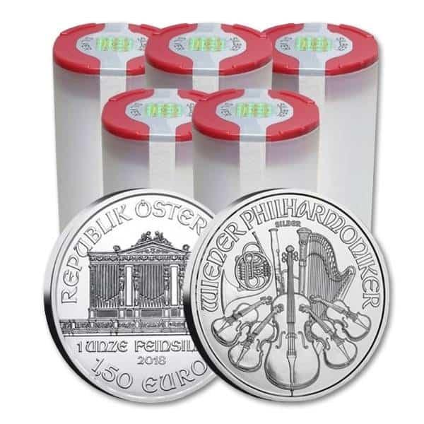 Zestaw 100 srebrnych monet Wiedeńscy Filharmonicy 1 oz