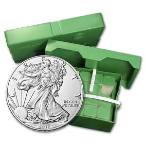 100 szt srebrnej monety Amerykański Orzeł 1oz pudełko