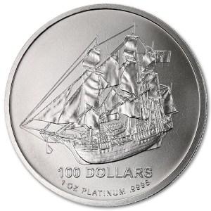 Platynowa moneta Cook Island 1 oz rewers