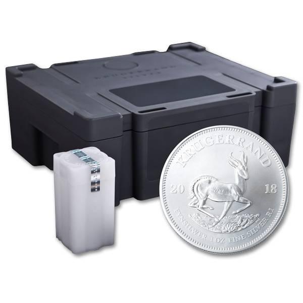 Zestaw 500 szt. srebrnych monet Krugerrand 1oz pudełko