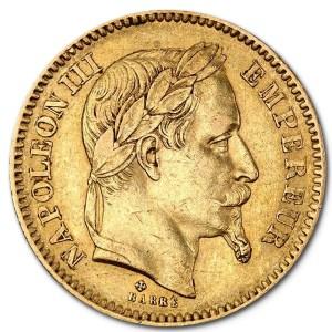 Złota moneta lokacyjna 20 Franków Napoleon rewers
