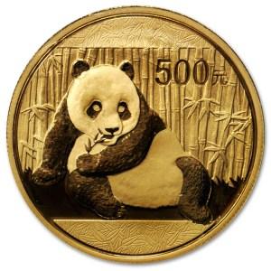 Złota moneta Chińska Panda 1oz 2015 rewers