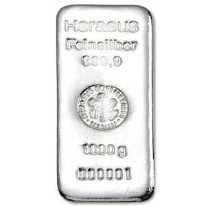 Sztabka srebra inwestycyjnego 1kg LBMA