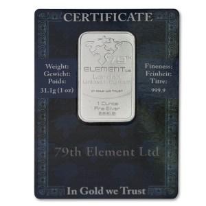 Sztabka srebra lokacyjnego 1oz w blistrze