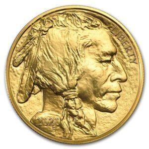 Złota moneta Amerykański Bizon 1 oz rewers