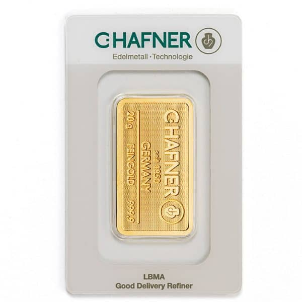 Sztabka złota inwestycyjnego 20 g LBMA