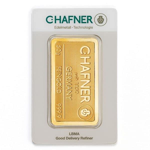 Sztabka złota inwestycyjnego 50 g LBMA