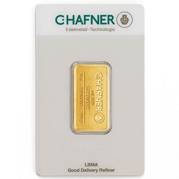 Sztabka złota inwestycyjnego 10 g LBMA w opakowaniu