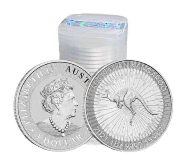 Zestaw 25 srebrnych monet Australijski Kangur 1 oz