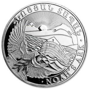 Srebrna moneta Arka Noego 1oz rewers