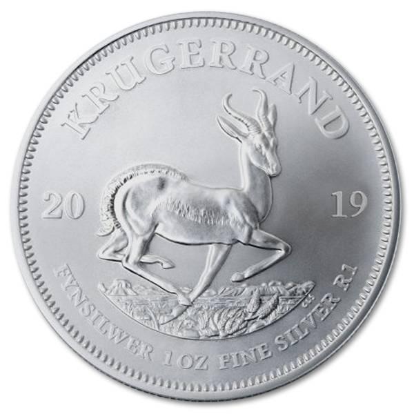 Srebrna moneta Krugerrand 1oz rewers