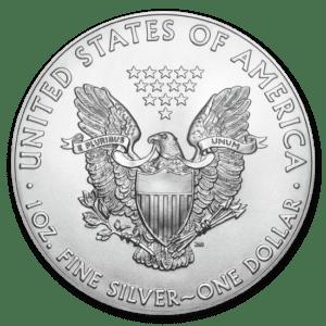 Srebrna moneta Orzeł Amerykański 1 oz rewers