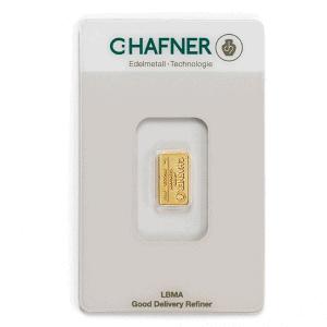 Sztabka złota lokacyjnego 1 gram LBMA rewers
