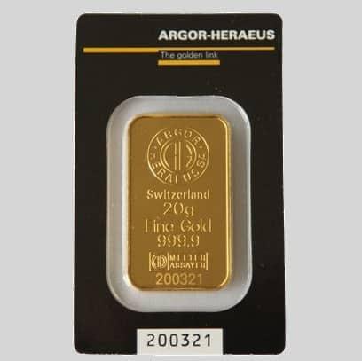 złota sztabka inwestycyjna