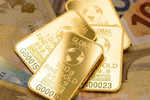 małe sztabki złota