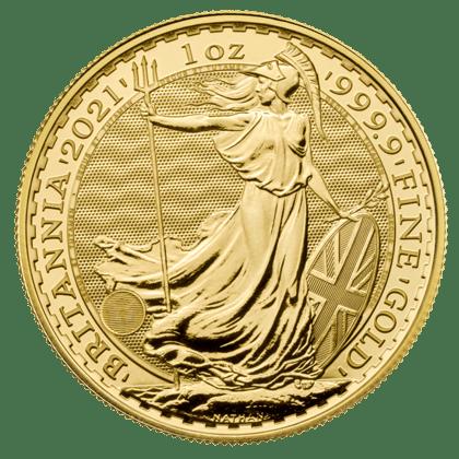 Złota moneta Britannia 1 oz rewers